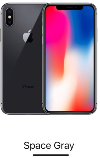 iPhone X 256gb gray without Facetime