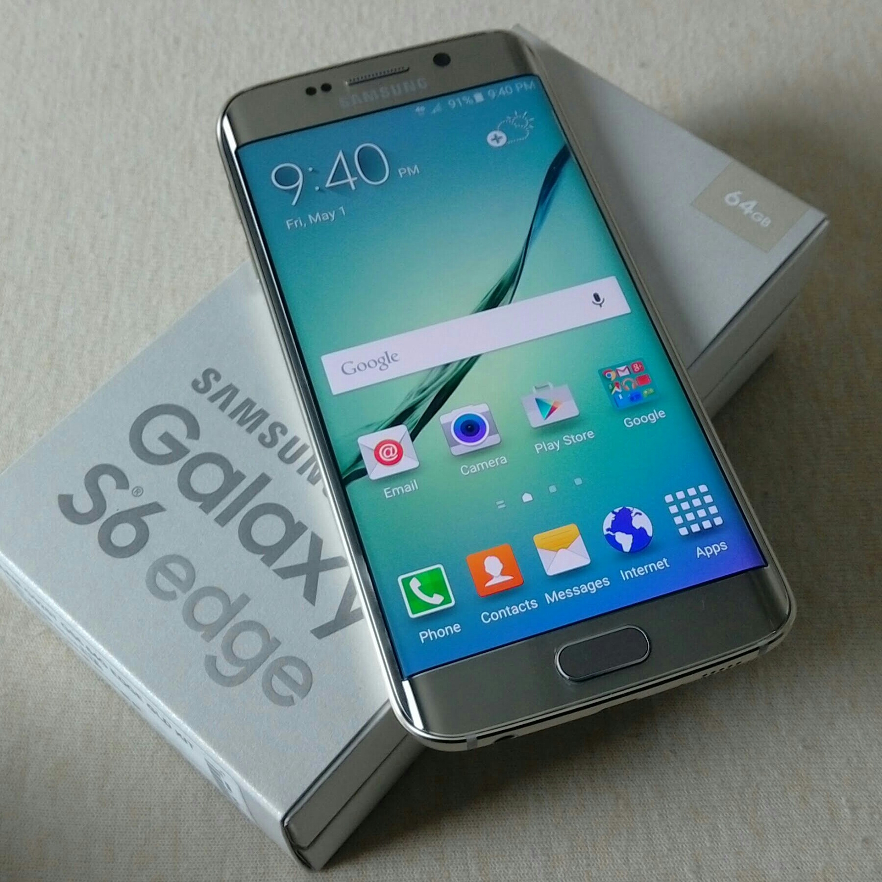 Galaxy 6 Edge Gold 64gb With Box Charger