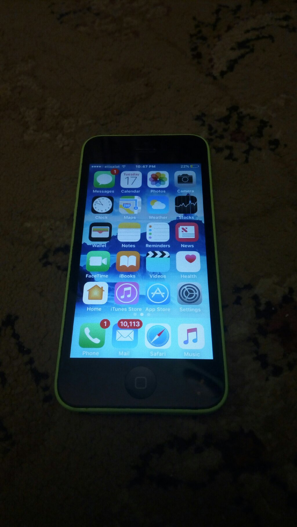 iPhone 5C 16gb Green Color