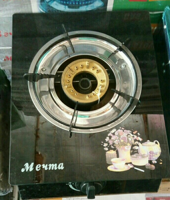 Gas Stove Single Burner Tempered Glass Top Box Pack