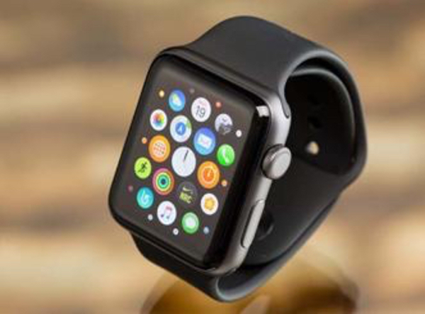 apple watch s1 black with box/charger