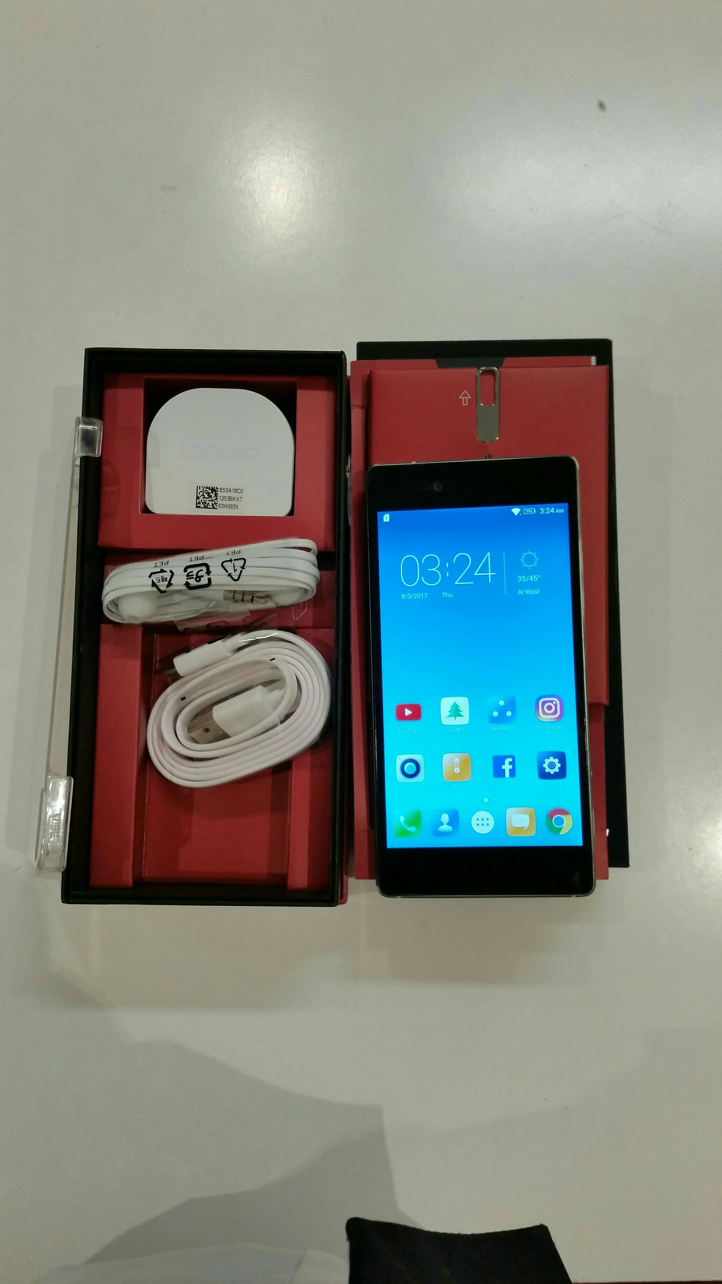 Lenovo Vibe Slot Smartphone 32 GB 3 GB Ram With Box Pack 🎁 All Accessory, Normal Used.