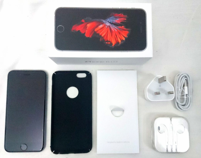 Barely Use Iphone 6s In 16gb Black Color, Earphones Never Used, Complete Inclusion