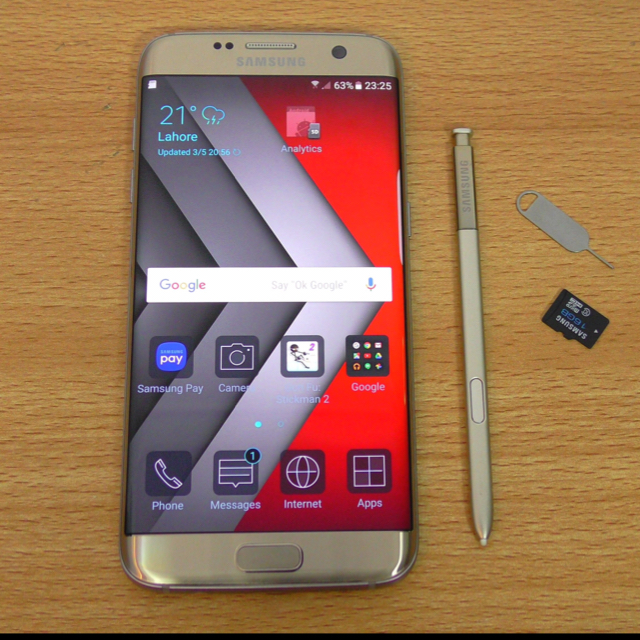Samsung S7 Edge Fresh Condition Gold Colour 5 Month Used With All Accessories