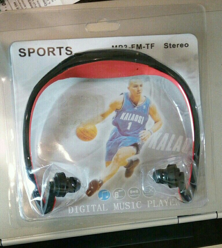 Sports mp3 Playrr Rechargable Box Pack Red Color