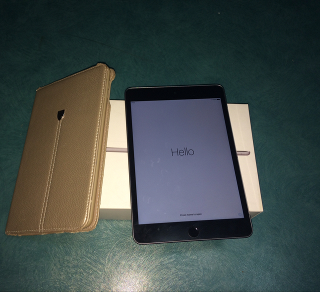 Hi, I'm selling #Apple Ipad 4 Mini,16Gb. Look Like New with Box, Charger, Cover Case & Receipt. Bought In Sharaf DG. Space Gray Color. Not any fault or problems.