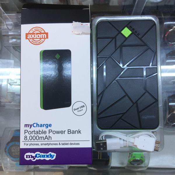portable power bank with one year axiom warrenty