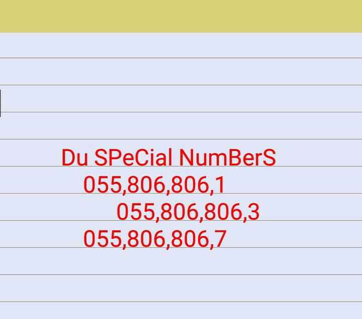 Du SpeCial NuMbers
