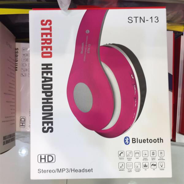 Stereo Bluetooth Headset Pink