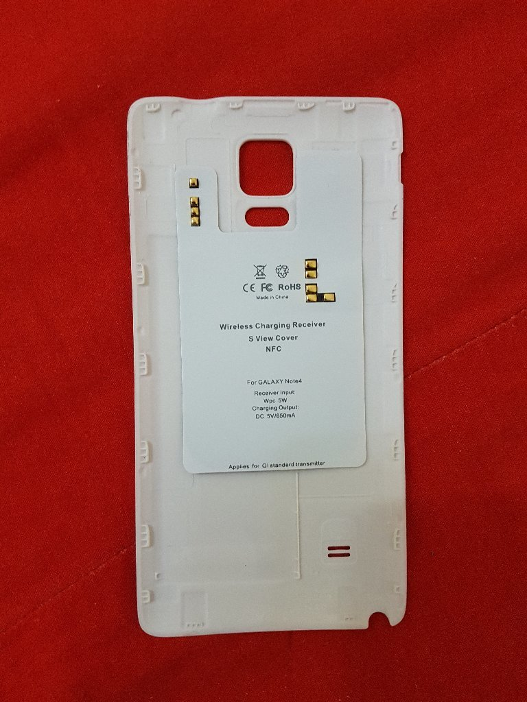 Note4 wireless charge chip & bk cover