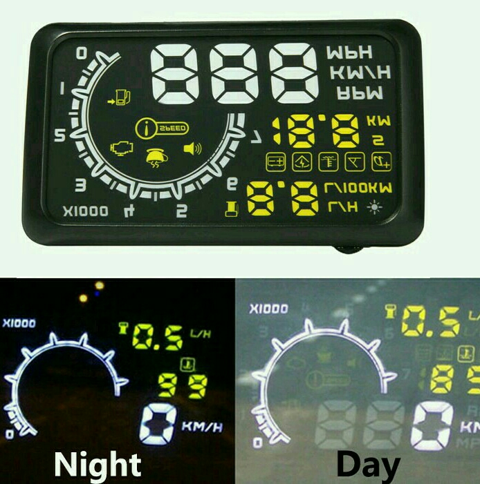 HUD Head Up Display For Car windshield OBD Works In Most Cars