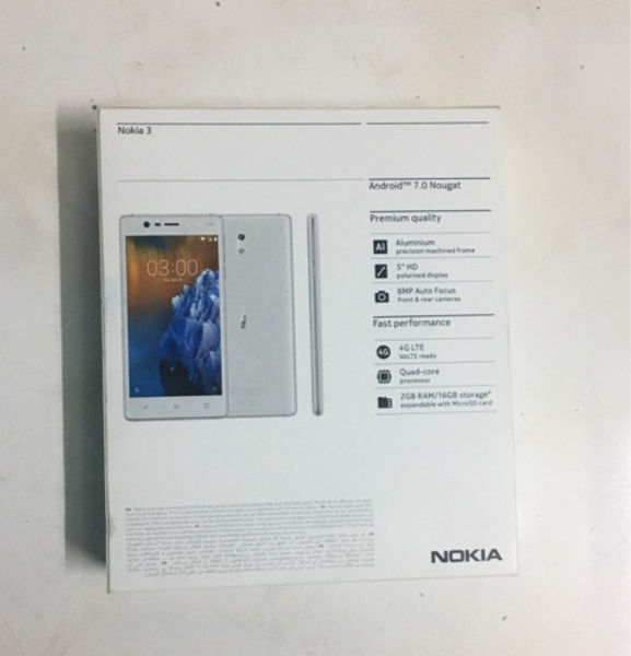 Nokia 3 gray color sealed pack