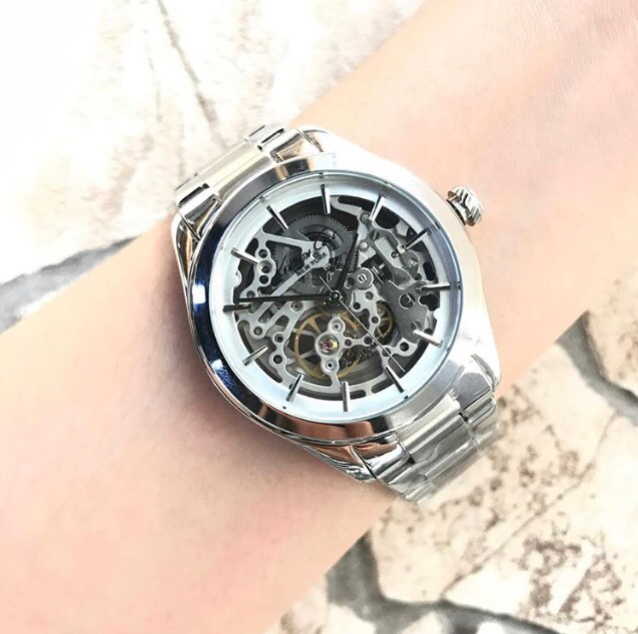 Kenneth Cole New York Silver stone Automatic Watch!Brand New   #dubai #watch #