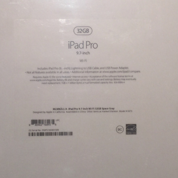 Apple iPad Pro (Personally owned)