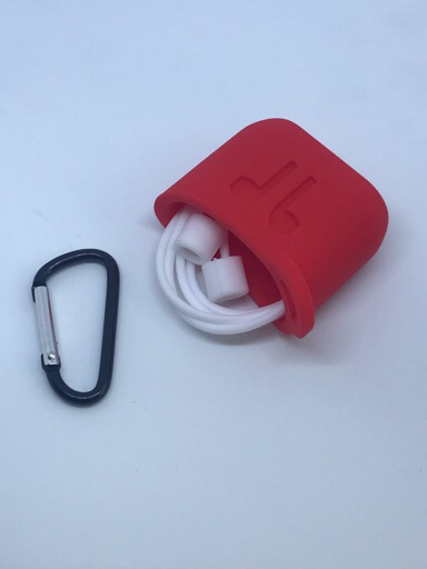 Apple airpods case RED /neck strap white
