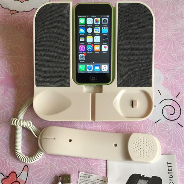 iPhone All Models Hand Set Phone, New Pack With Complete Accessories With Browser, (Iphone Not Included)