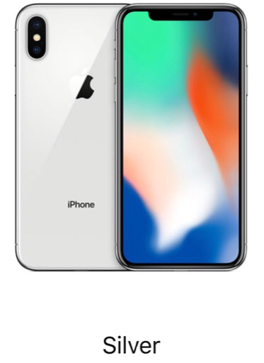 iPhone X 64GB without Facetime silver