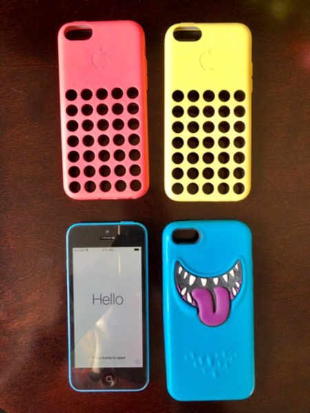 iPhone 5C + 3 covers
