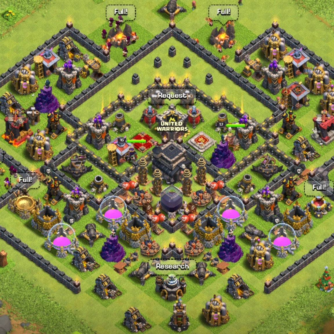 Clash Of Clans Th 9 Maxed