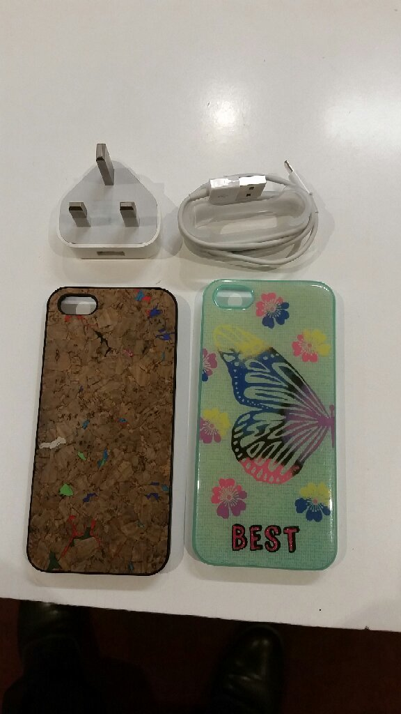 Apple Copy Charger & IPhone 5&5S Case
