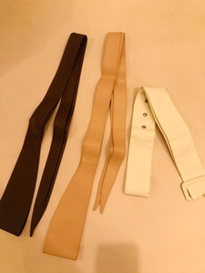 Used 3 ladies leather belts one size not used in Dubai, UAE