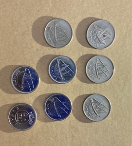 Used Kuwait currency coins in Dubai, UAE
