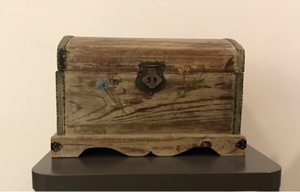 Used Wooden box with rose painting  in Dubai, UAE