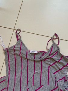 Used Long striped dress by Calvin Klein  in Dubai, UAE