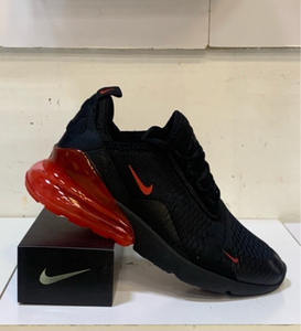 Used Nike Airmax 270 black/red size 45, new in Dubai, UAE