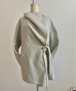 Used Zara grey draped jacket New sz M in Dubai, UAE