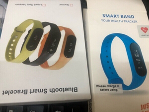 Used 2 pic smart band black and blue color  in Dubai, UAE