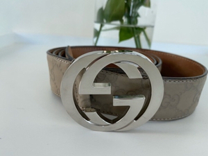 Used GUCCI authentic Men leather belt in Dubai, UAE