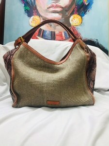Used Liebeskind Snake Leather/Straw Bag in Dubai, UAE