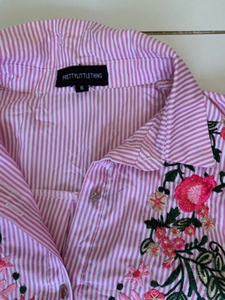 Used Striped embroidered shirt  in Dubai, UAE