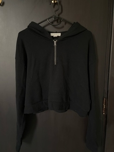 Used Forever 21 Black Zip Hoodie in Dubai, UAE