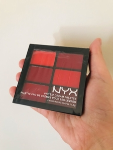 Used NYX Pro lip cream palette, the reds new in Dubai, UAE