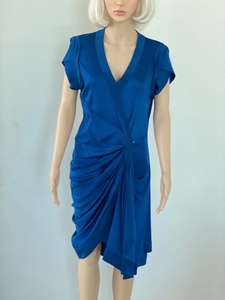 Used SPORTMAX navy dress size L in Dubai, UAE