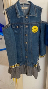 Used A denim dress from Riva size (10) kids in Dubai, UAE