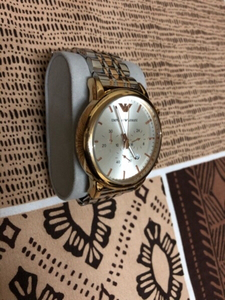 Used EA gold and silver bracelet men's watch in Dubai, UAE