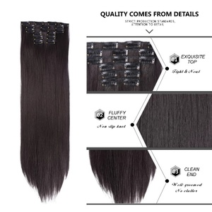 Used Clip in hair remy dark brown clip in ex in Dubai, UAE