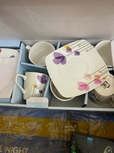 Used Brand new ceramic cups saucers set in Dubai, UAE