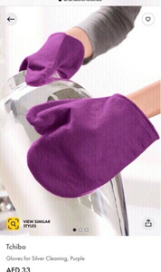 Used New Tchibo silver cleaning gloves 🧤💜🧤 in Dubai, UAE