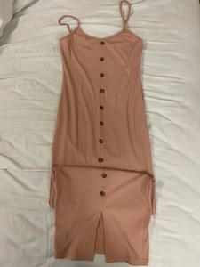 Used 👗 Shein baby pink fitted dress in Dubai, UAE