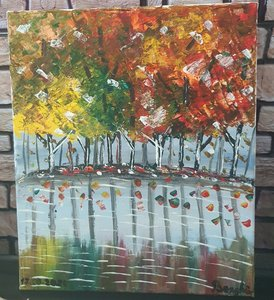 Used Autumn landscape acrylic paiting in Dubai, UAE