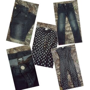 Used kids Black jumpsuit & jeans like nw in Dubai, UAE