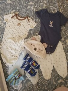 Used 7 items. New born 0-3 months in Dubai, UAE