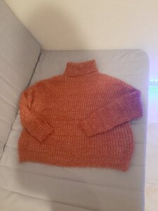 Used Pink fuzzy warm sweater in Dubai, UAE