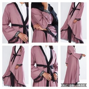 Used Pink women Abaya size 40 in Dubai, UAE