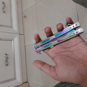 Used (Sharp) butterfly knife balisong in Dubai, UAE