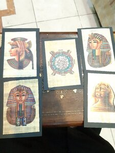 Used 5 Authentic Egyptian Papyrus Set 🧿💯 in Dubai, UAE